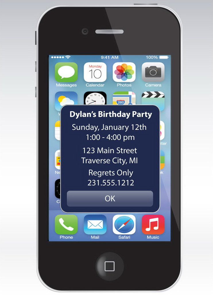 Party Invitation App Iphone