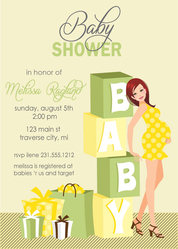 Blocks Baby Shower Invitations - Gender Neutral Also Available In ...